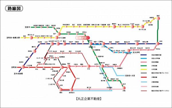 路線図 (梶ヶ谷)