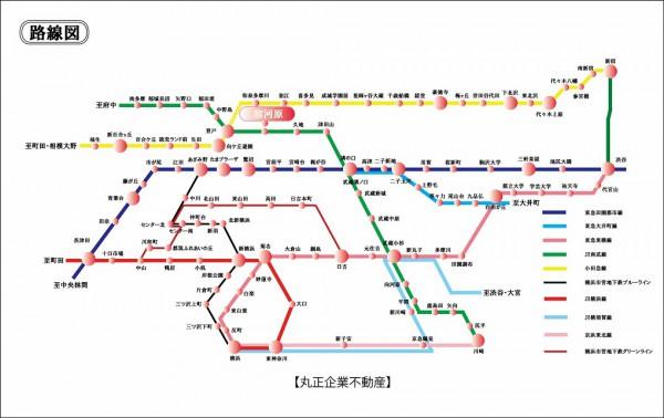 路線図 (宿河原)