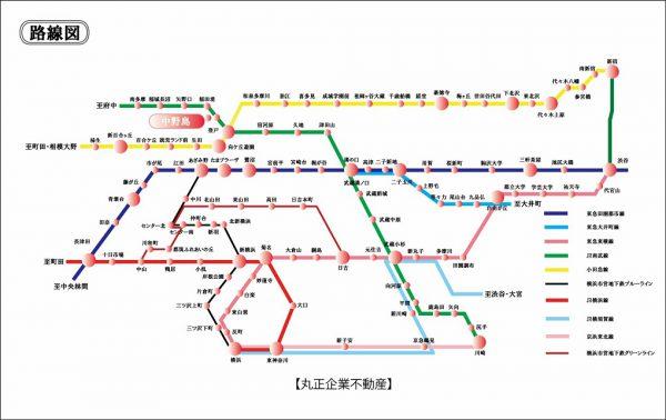 路線図(中野島)